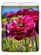 Tecolote Ranunculus Flowers By Diana Sainz Duvet Cover