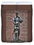 Ted Williams Statue - Boston Duvet Cover by Joann Vitali