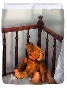 Teddy Bear In Crib Duvet Cover