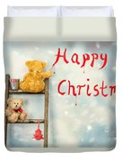 Teddy Bears At Christmas Duvet Cover