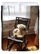 Teddy In Old Fashioned Rocker Duvet Cover