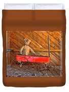 Teddy Takes A Ride Duvet Cover