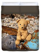 Ted's On The Rust Pile Duvet Cover
