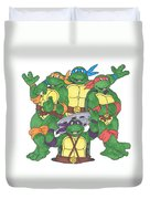 Teenage Mutant Ninja Turtles  Duvet Cover by Yael Rosen