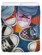 Teens In Converse Tennies Duvet Cover
