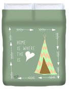 Teepee Art Arrows Home Is Where The Heart Is Duvet Cover