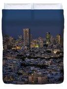 Tel Aviv At The Twilight Magic Hour Duvet Cover