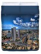 Tel Aviv Center Skyline Duvet Cover