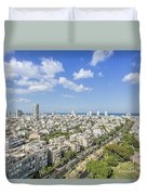 Tel Aviv Israel Elevated View Duvet Cover