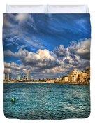 Tel Aviv Jaffa Shoreline Duvet Cover