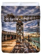Tel Aviv Port At Winter Time Duvet Cover