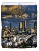 Tel Aviv Skyline Fascination Duvet Cover