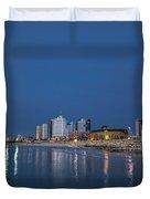 Tel Aviv The Blue Hour Duvet Cover
