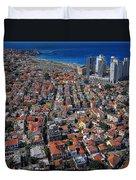 Tel Aviv - The First Neighboorhoods Duvet Cover