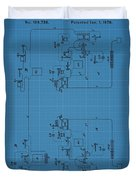 Telegraph Blueprint Patent Duvet Cover