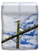 Telegraph Pole - Yesterdays Technology Duvet Cover