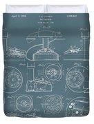 Telephone Patent Duvet Cover