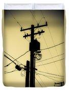 Telephone Pole 2 Duvet Cover