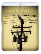 Telephone Pole 3 Duvet Cover