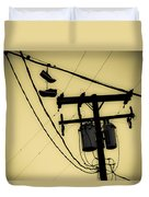 Telephone Pole And Sneakers 1 Duvet Cover