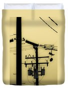 Telephone Pole And Sneakers 5 Duvet Cover by Scott Campbell