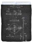 Telescope Telemeter Patent From 1916 - Charcoal Duvet Cover