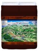 Telluride Ski Map Detail  Duvet Cover