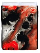 Tempest - Red And Black Painting Duvet Cover