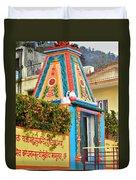 Colorful Temple - Rishikesh India Duvet Cover