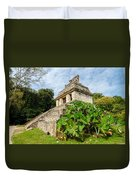 Temple And Foliage Duvet Cover
