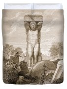 Temple At Agrigentum, Sicily Duvet Cover