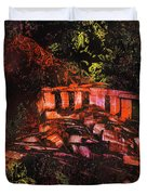 Temple In The Woods Duvet Cover