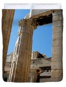 Temple Maze Of Columns Duvet Cover