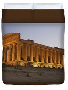 Temple Of Concordia In The Valley Of Duvet Cover