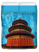 Temple Of Heaven Duvet Cover