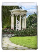 Temple Of Love Statue At The Rose Garden Of The Huntington. Duvet Cover