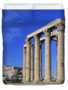 Temple Of Olympian Zeus Athens Greece Duvet Cover