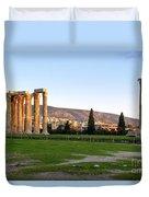 Temple Of Olympian Zeus. Athens Duvet Cover