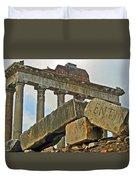 Temple Of Saturn In The Roman Forum Duvet Cover
