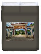Temple On The Hill Duvet Cover