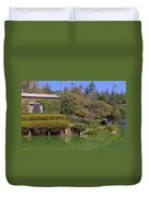Temple On The Lake Duvet Cover