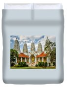 Temple Towers Duvet Cover