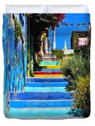 Templeman Street Valparaiso Chile Duvet Cover
