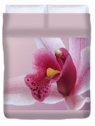 Temptation - Pink Cymbidium Orchid Duvet Cover