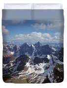 T-703502-ten Peaks From Summit Of Mt. Lefroy Duvet Cover