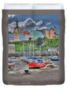 Tenby Harbour In Summer 4 Duvet Cover