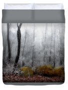 Tennessee Mountain Frost Duvet Cover