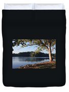 Tennessee River In Knoxville Duvet Cover