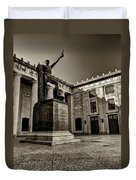 Tennessee War Memorial Black And White Duvet Cover