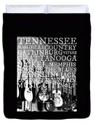 Tennessee Words Sign Duvet Cover by Chastity Hoff